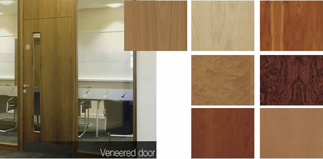Office doors veneered office doors for office partitioning for Office main door design